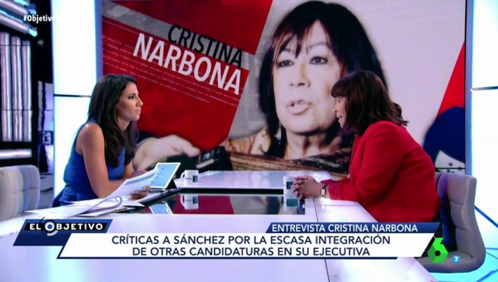 Cristina Narbona, presidenta del PSOE, en El Objetivo
