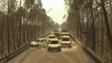 Nuevas imágenes del incendio de Portugal