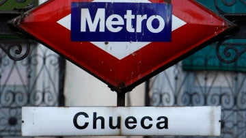 Acceso a la estación de metro de Chueca
