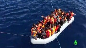 El conflicto de Libia provoca que la vía migratoria española sea la entrada por mar que más ha crecido