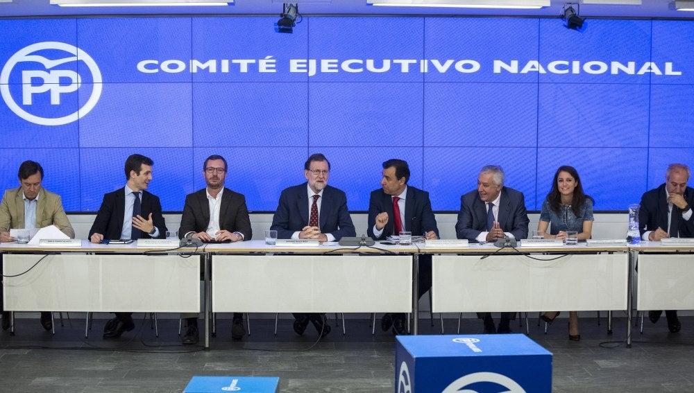Mariano Rajoy presidiendo la reunión del Comité Ejecutivo del Partido