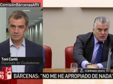 Toni Cantó responde a Luis Bárcenas en ARV