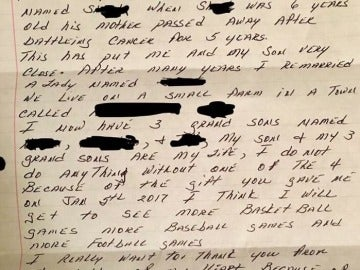Carta agradecimiento donación de riñón
