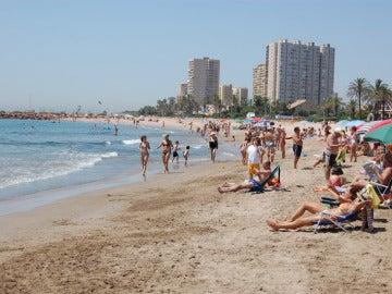 Imagen de la playa de El Puig, en Valencia