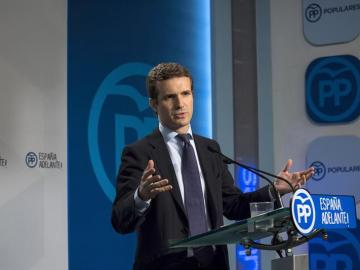 El portavoz del PP, Pablo Casado