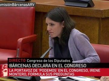 Irene Montero pregunta a Luis Bárcenas