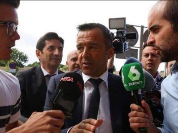 Jorge Mendes, a su llegada al juzgado