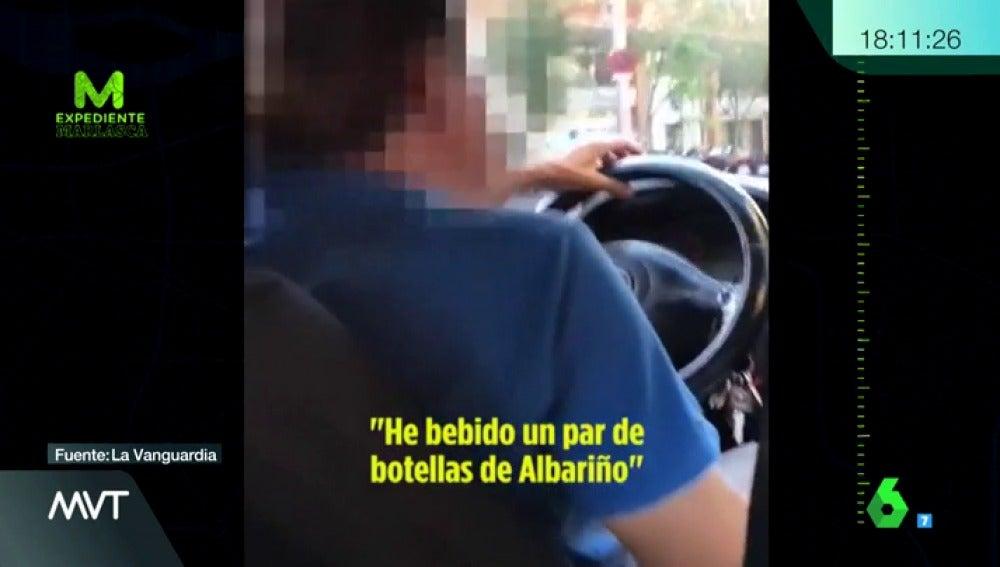 El taxista confiesa que ha bebido alcohol