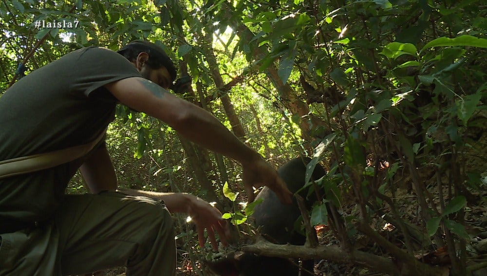 Santi caza al jabalí