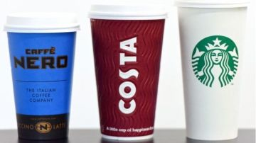 Caffe Nero, Costa Coffee y Starbucks