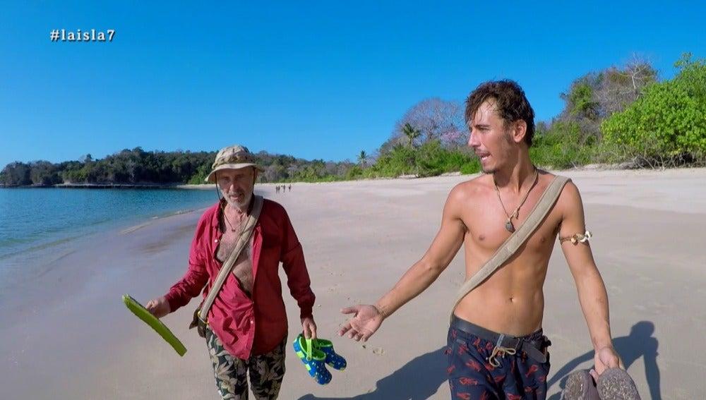 Cuco discute con Rafael en La Isla