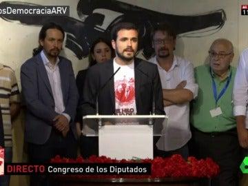 El diputado Alberto Garzón