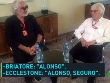 Fernando Alonso, cerca de Ferrari: Ecclestone le quiere de rojo y Briatore no lo descarta