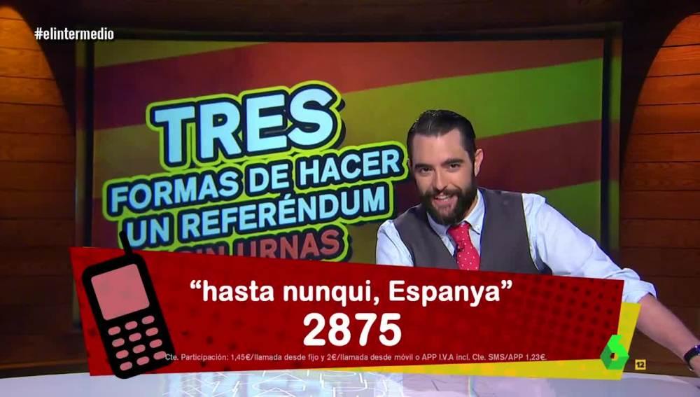 Dani Mateo y las soluciones para un referéndum sin urnas