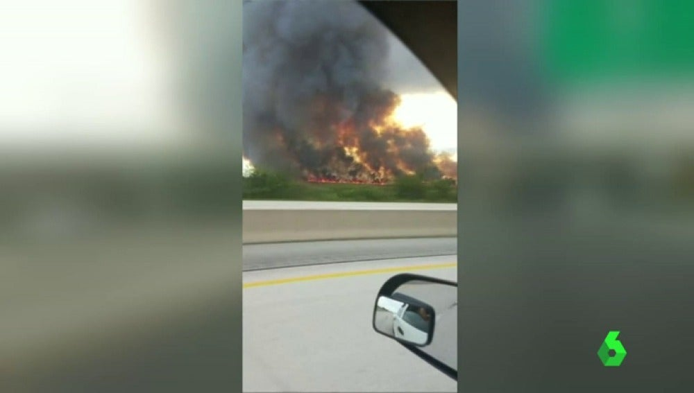 Incendio en Florida y Arizona