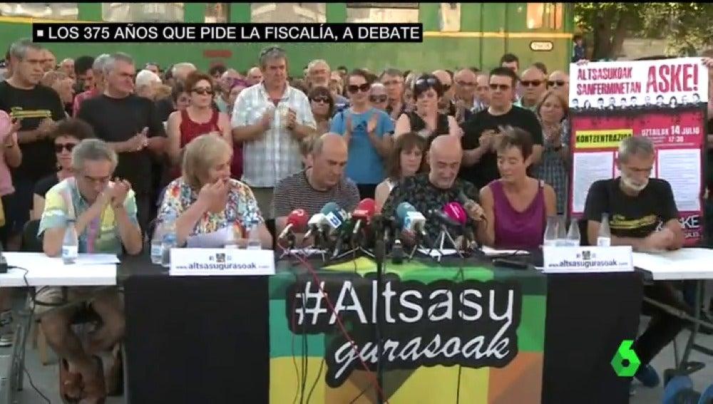Familiares de los agresores de Alsasua