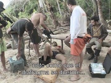 Juan sufre una picadura en La Isla