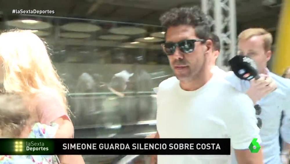 Simeone, a su llegada a Madrid