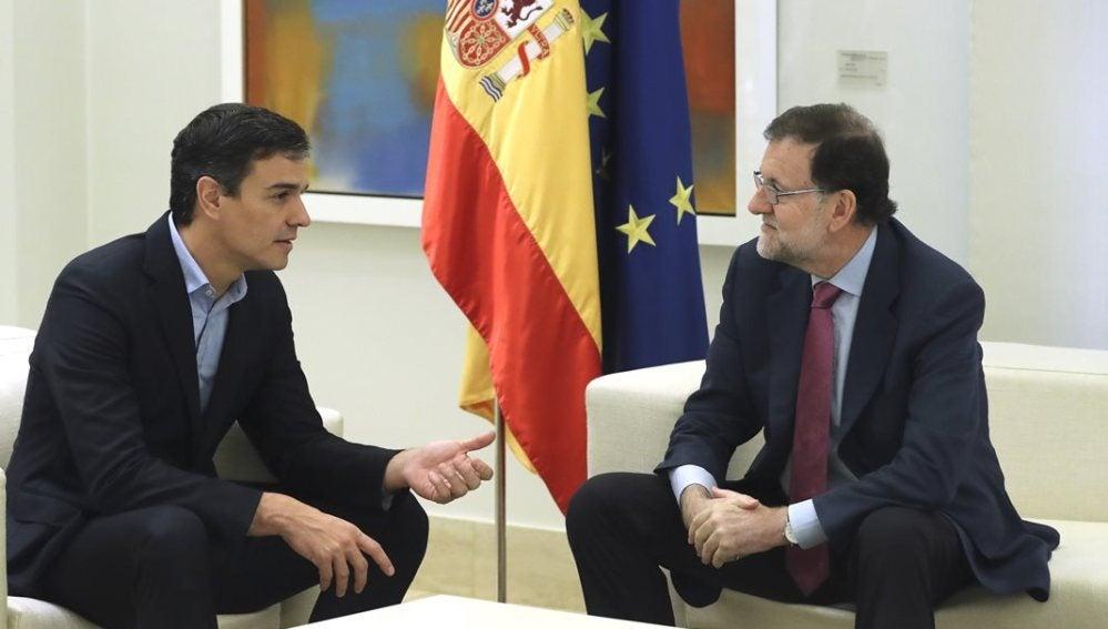 Rajoy y Sánchez en una de sus reuniones, imagen de archivo