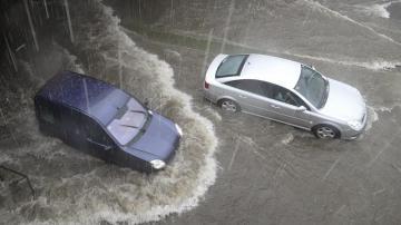 Imagen de archivo de una inundación en Madrid