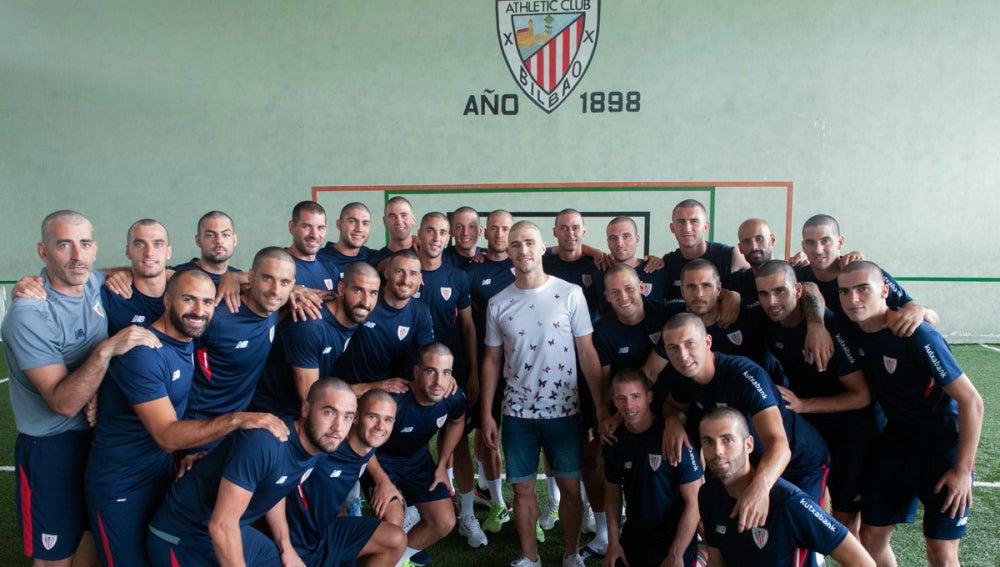 Los jugadores del Athletic, rapados en solidaridad con Yeray