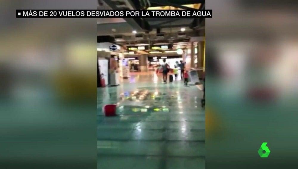 Agua en el aeropuerto de Barjas