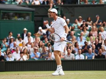 Andy Murray celebra un punto ante Fognini