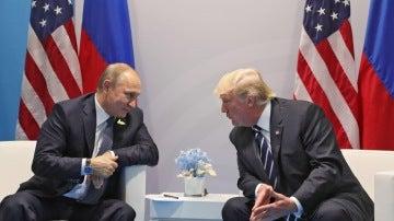 Putin y Trump en su encuentro durante el G20