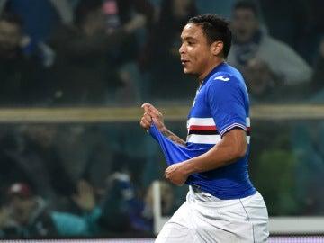 Muriel celebra un gol con la Sampdoria