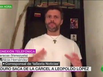 Alicia Hernández, sobre la salida de prisión de Leopoldo López