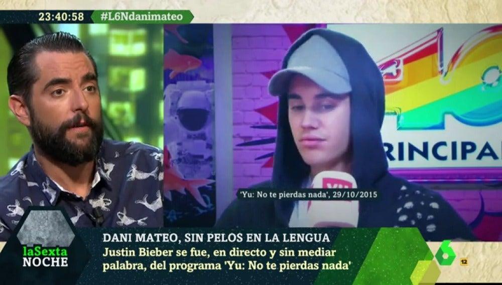 """Dani Mateo desvela los entresijos de la espantada de Justin Bieber: """"Su segurata me dio un empujoncito"""""""