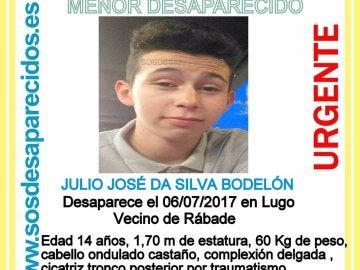 El menor desaparecido en Lugo