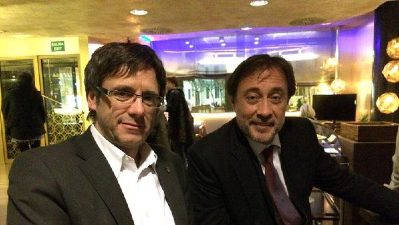 Agustí Benedito, con Puigdemont