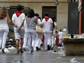 Pamplona tras el segundo día de fiesta