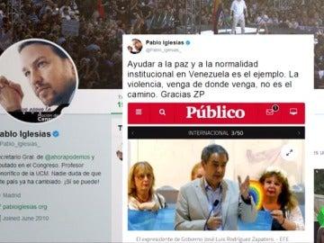 El tuit de Iglesias agradeciendo la labor de Zapatero