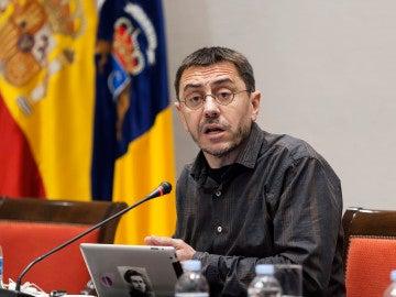 El politólogo y fundador de Podemos, Juan Carlos Monedero