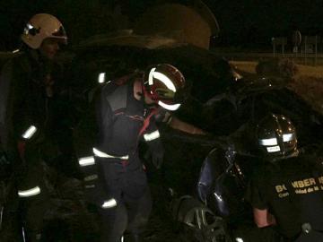 Imagen de un accidente de tráfico durante la operacón Salida
