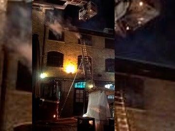 Incendio en el mercado Lock de Camden en Londres