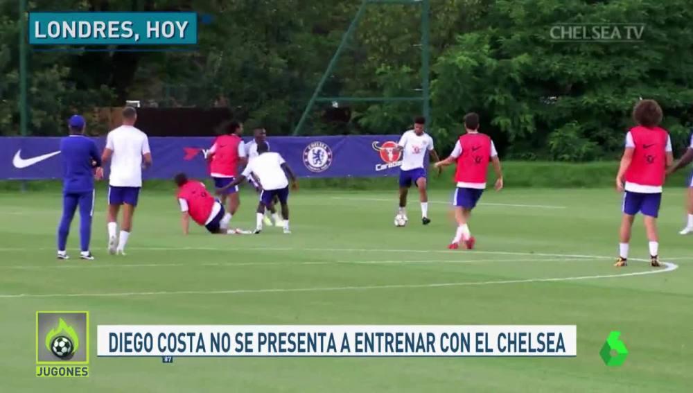 Diego Costa, principal ausencia en el entrenamiento del Chelsea