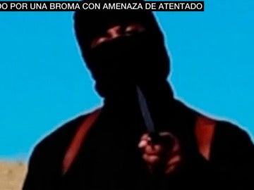 Imagen del falso yihadista de Zaragoza que amenazó a EEUU