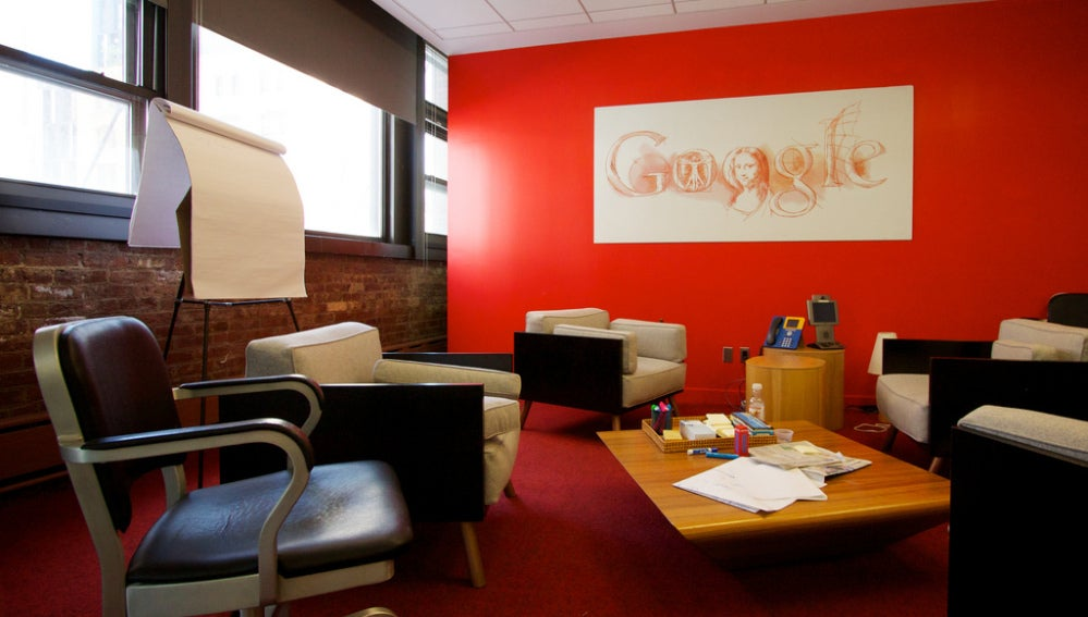 Sala de reuniones de la sede de Google en Nueva York