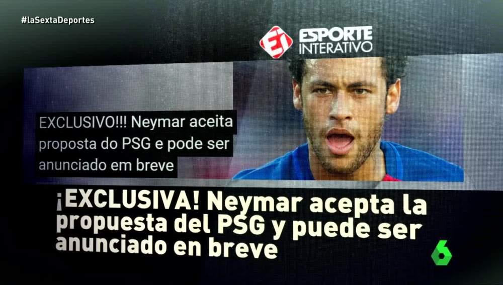 Neymar habría aceptado la oferta del PSG