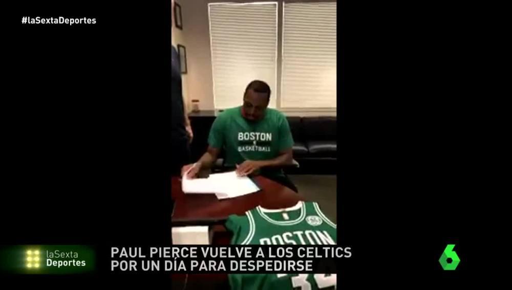 Paul Pierce hacer realidad su sueño de retirarse con los Celtics