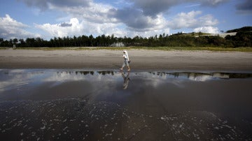 Playa en los alrededores de Fukushima