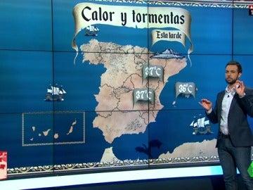 Bajan las temperaturas en la península y se esperan lluvias fuertes en Navarra, Zaragoza y Huesca