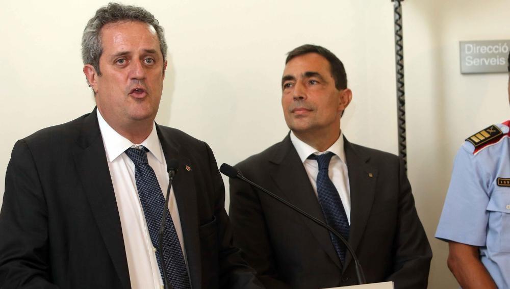 Joaquim Forn y Pere Soler, durante su encuentro