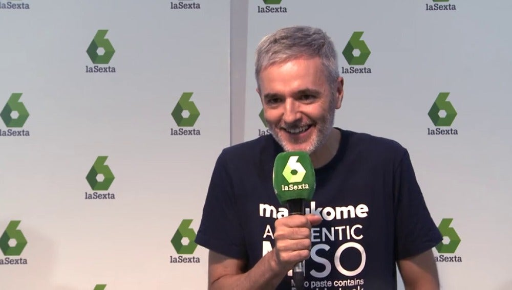 Mikel López Iturriaga en la rueda de prensa de El Comidista TV