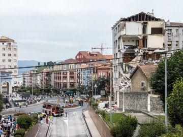 Edificio derrumbado de Santander