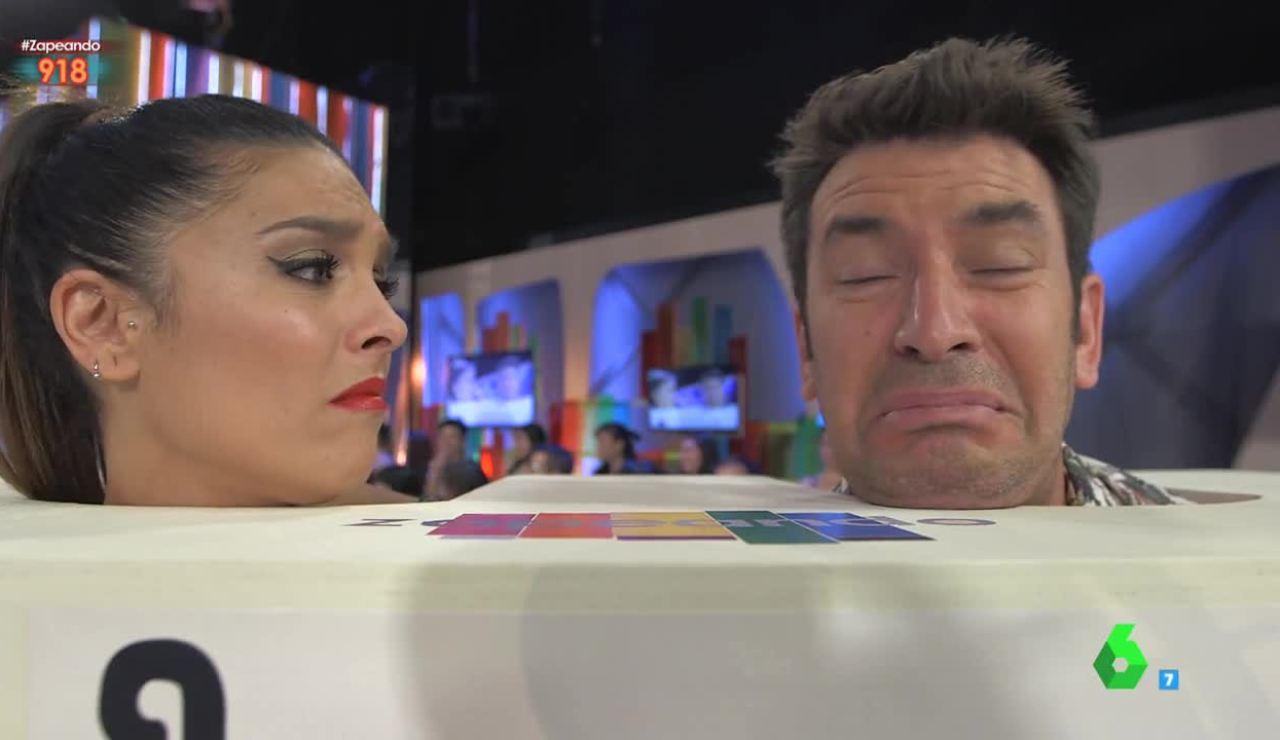 Lorena Castell y Arturo Valls, en Zapeando