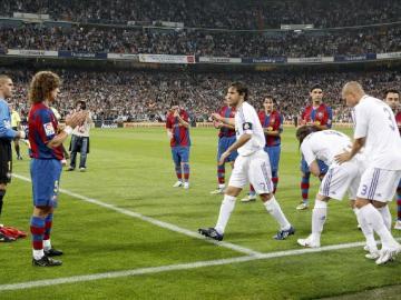 Pasillo del Barcelona al Real Madrid (2008)